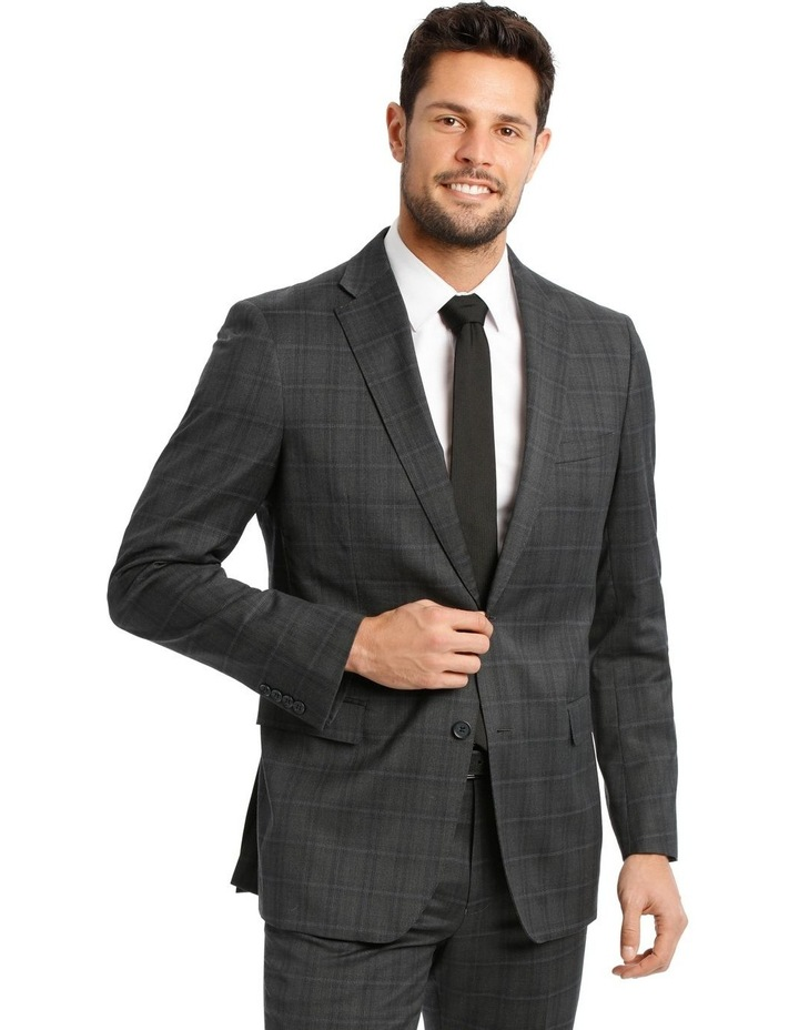 Charcoal Check Suit Jacket image 1