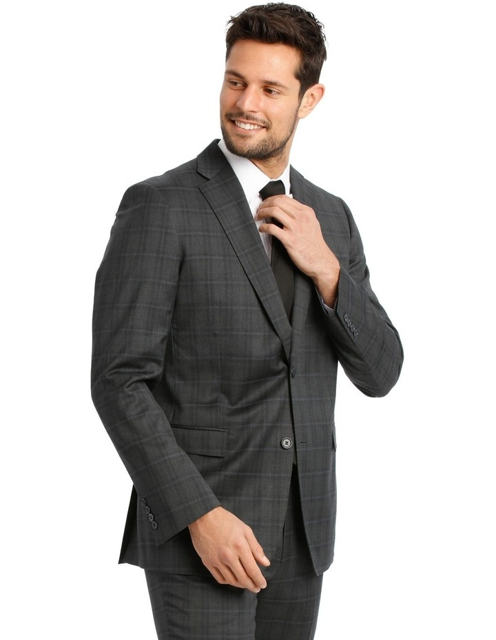 Charcoal Check Suit Jacket image 2