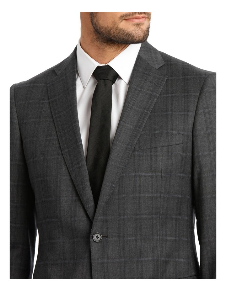 Charcoal Check Suit Jacket image 4