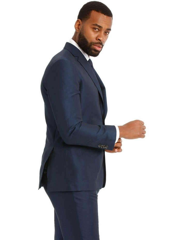Navy Wool Linen Suit Jacket image 2
