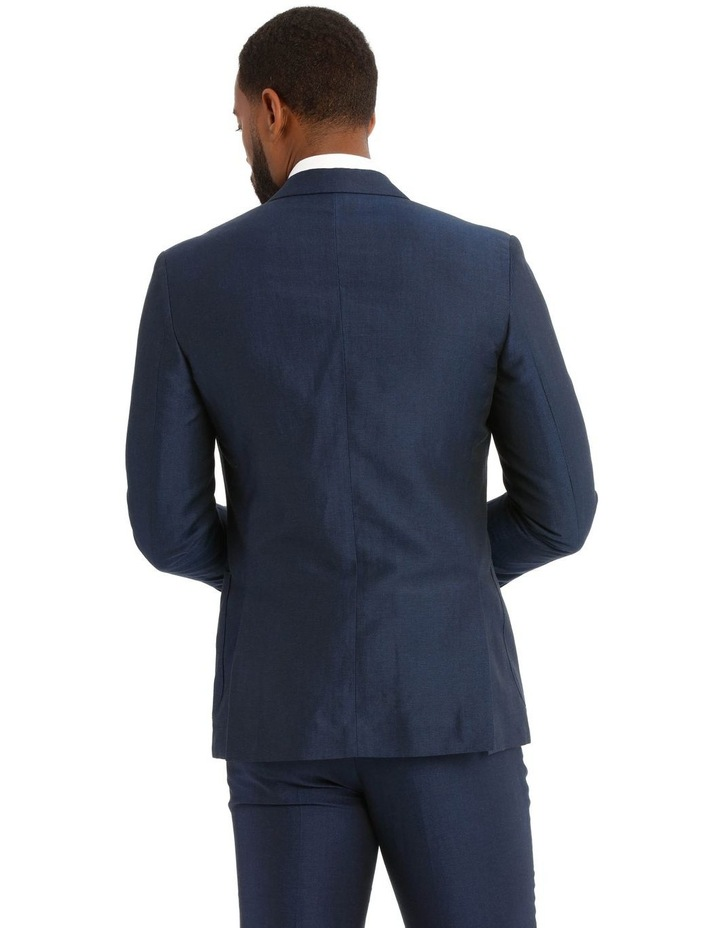 Navy Wool Linen Suit Jacket image 3