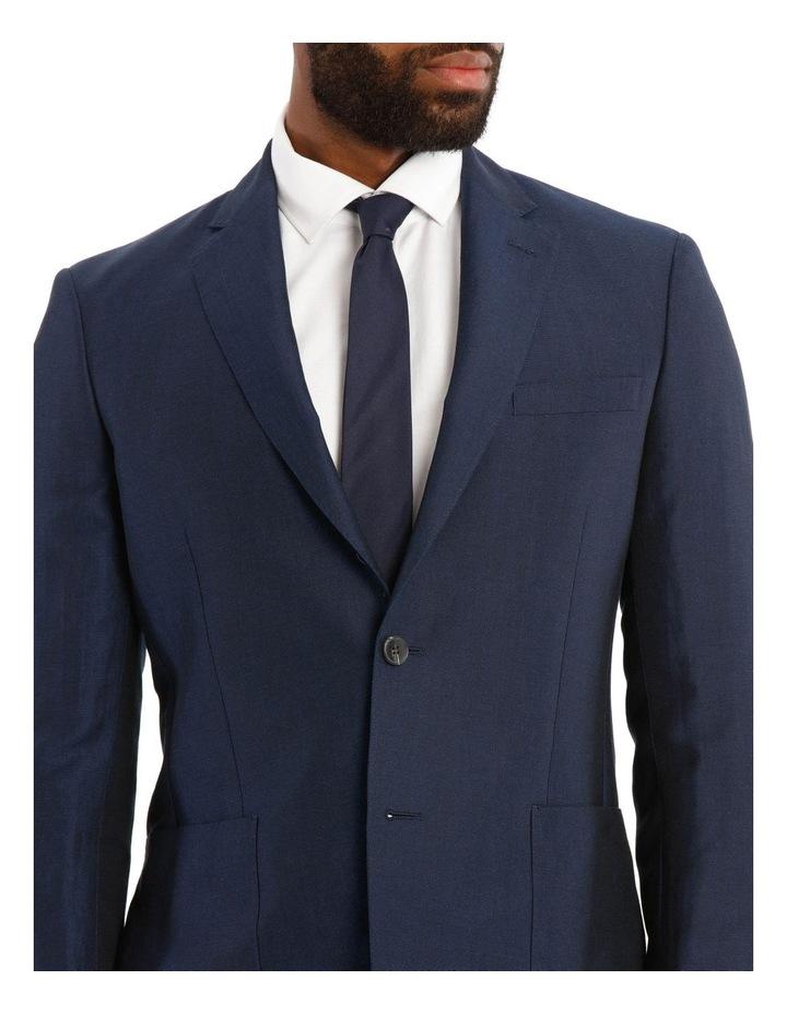 Navy Wool Linen Suit Jacket image 4