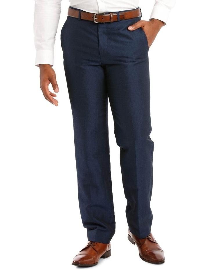 Navy Wool Linen Suit Trouser image 1