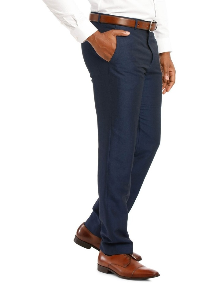 Navy Wool Linen Suit Trouser image 2