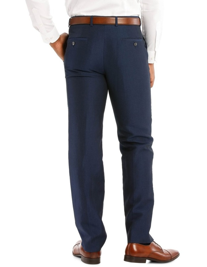 Navy Wool Linen Suit Trouser image 3