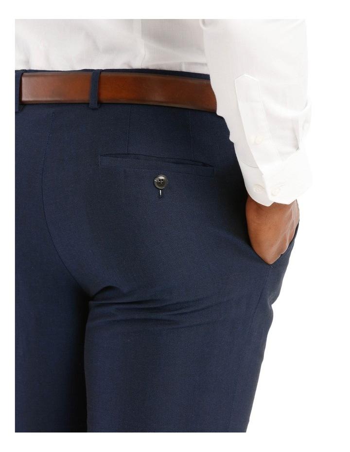Navy Wool Linen Suit Trouser image 4