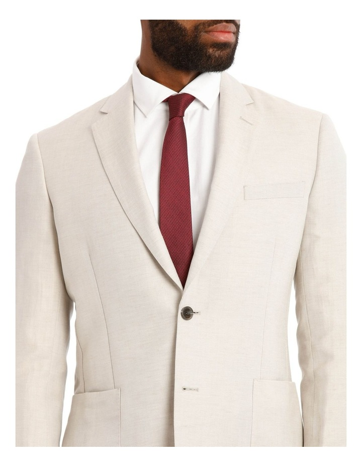 Natural Wool Linen Suit Jacket image 4
