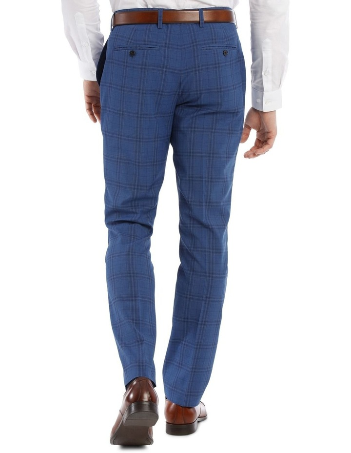 Slim Bright Blue Check Suit Trouser image 3
