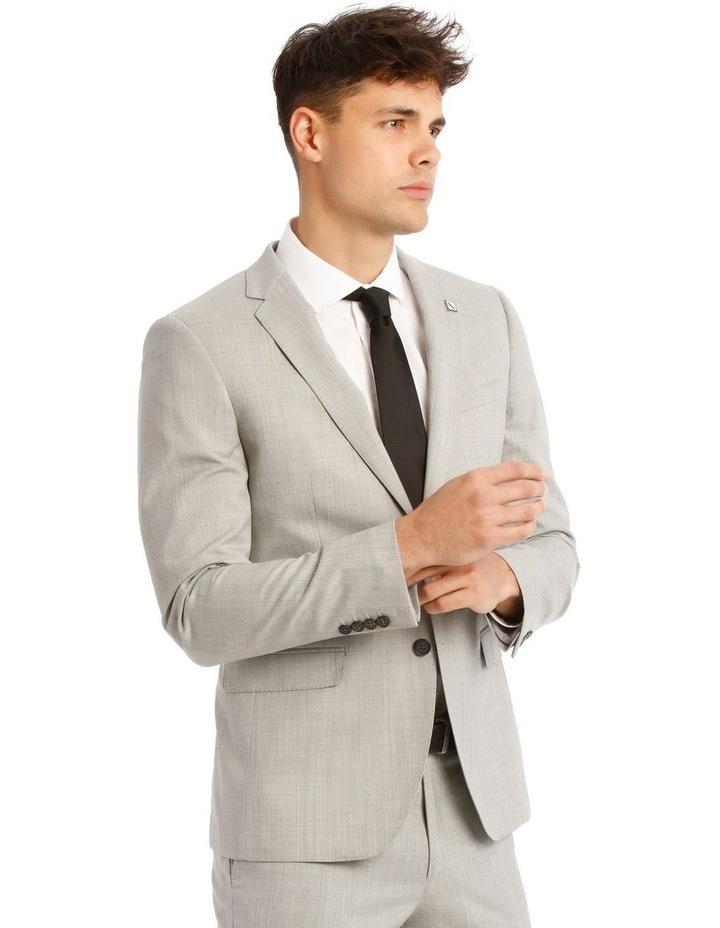 Slim Light Grey Marle Suit Jacket image 2