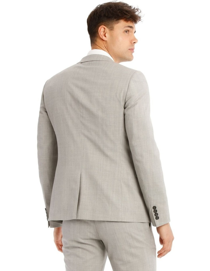 Slim Light Grey Marle Suit Jacket image 3