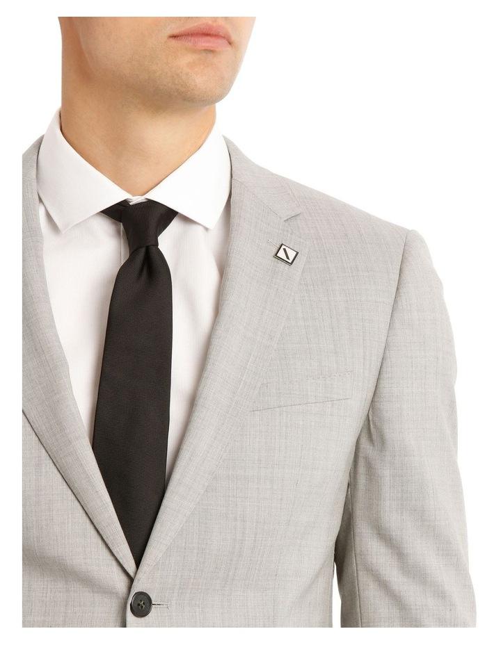 Slim Light Grey Marle Suit Jacket image 4