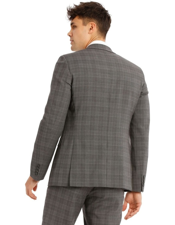 Tailored Pale Grey Check Suit Jacket image 3