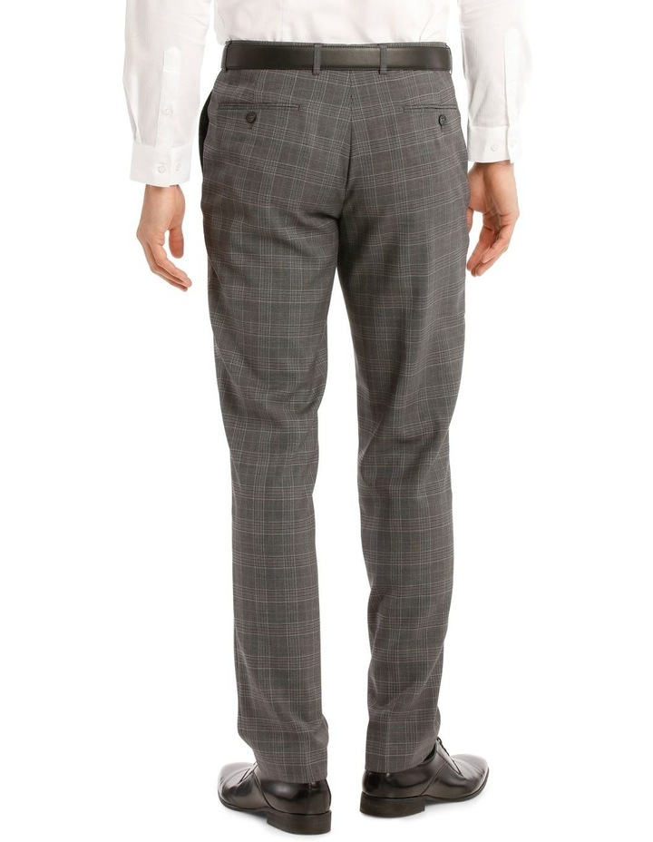 Tailored Pale Grey Check Suit Trousers image 3