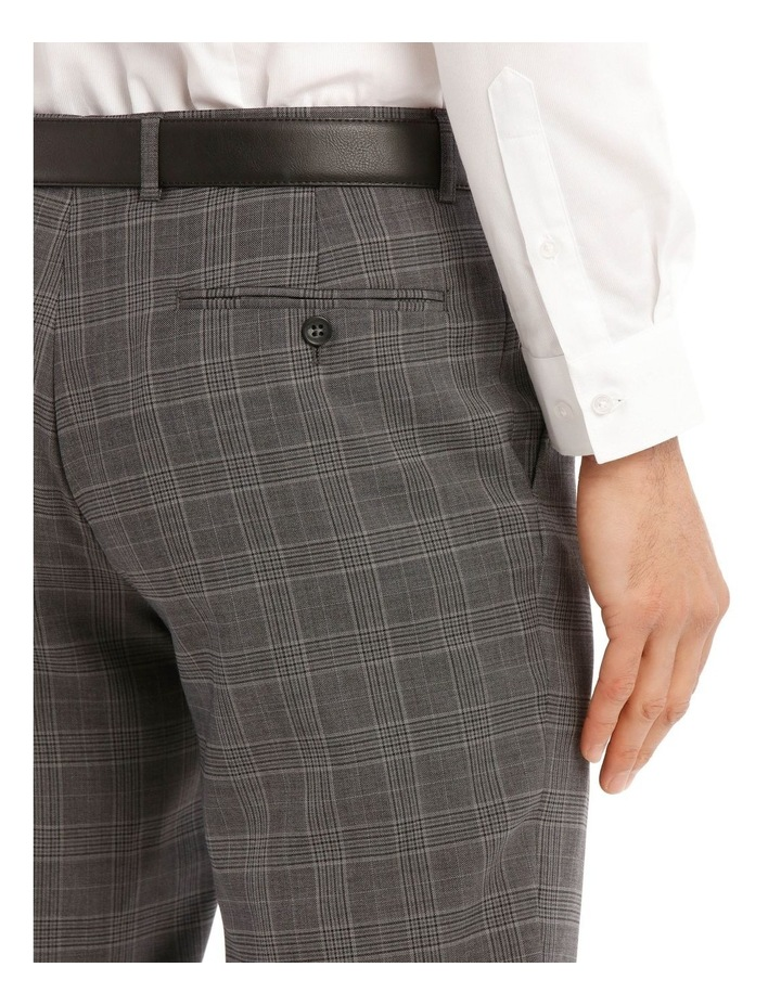 Tailored Pale Grey Check Suit Trousers image 4