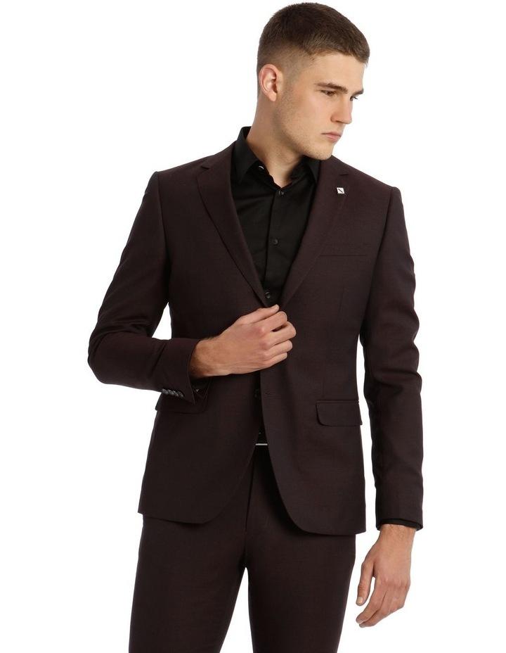 Blaq Slim Burgundy Textured Suit Jacket image 1