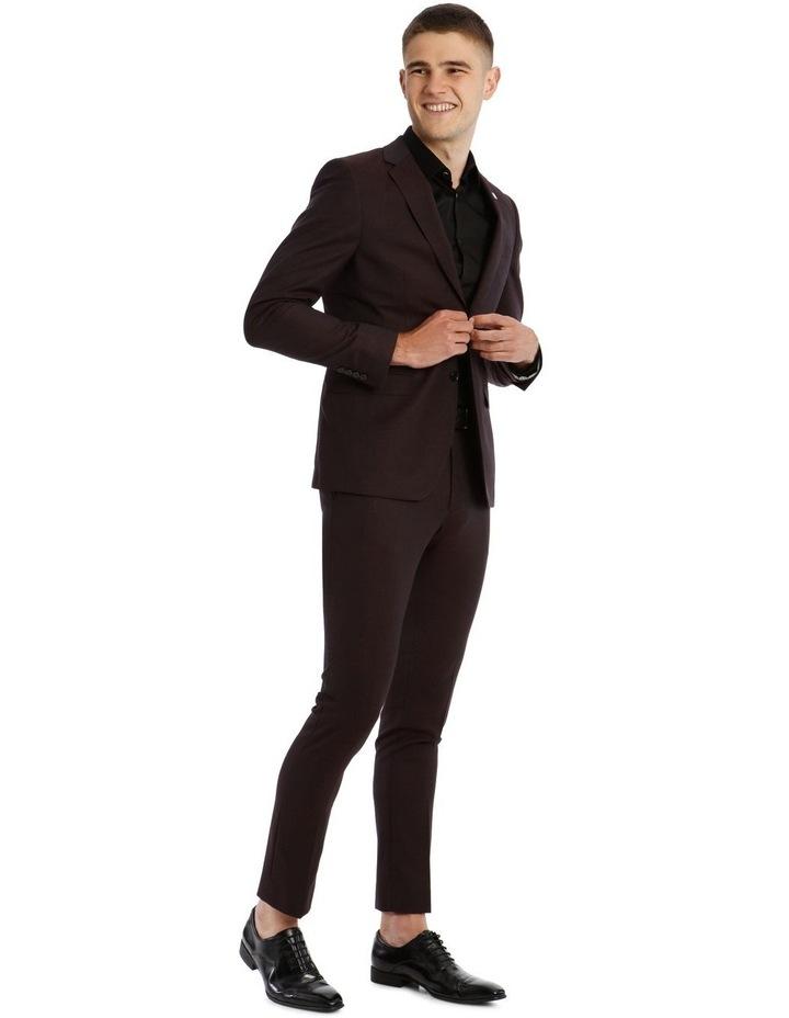 Blaq Slim Burgundy Textured Suit Jacket image 2