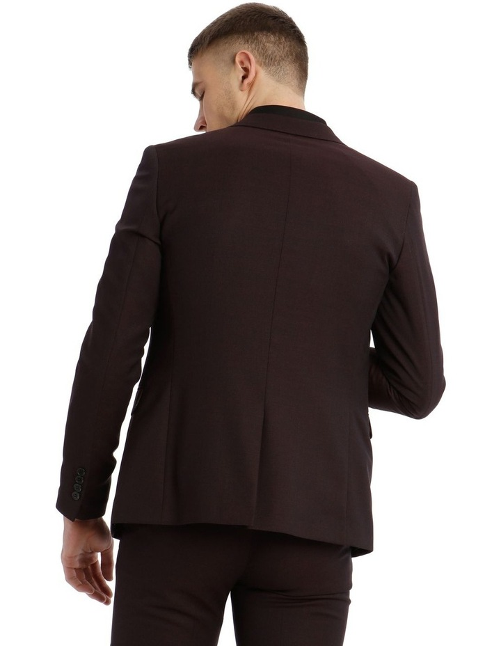 Blaq Slim Burgundy Textured Suit Jacket image 3