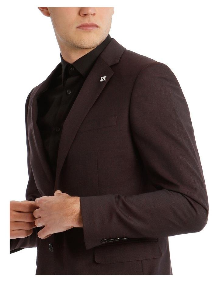 Blaq Slim Burgundy Textured Suit Jacket image 4