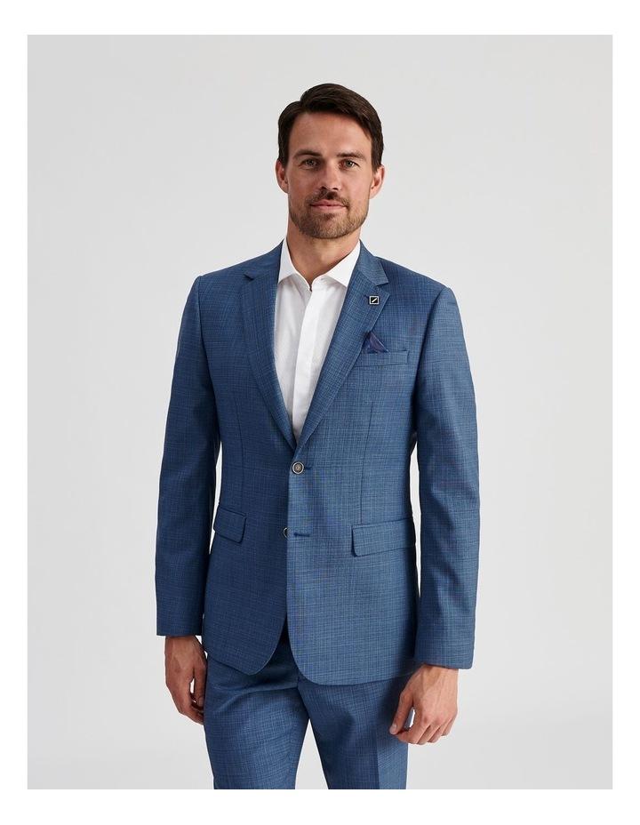 Blue Micro-Check Suit Jacket image 1