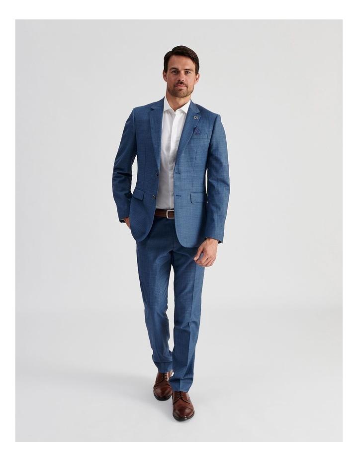 Blue Micro-Check Suit Jacket image 2