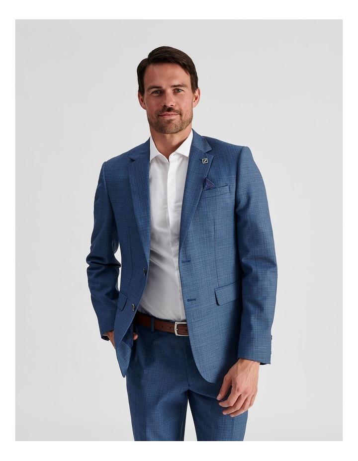Blue Micro-Check Suit Jacket image 3