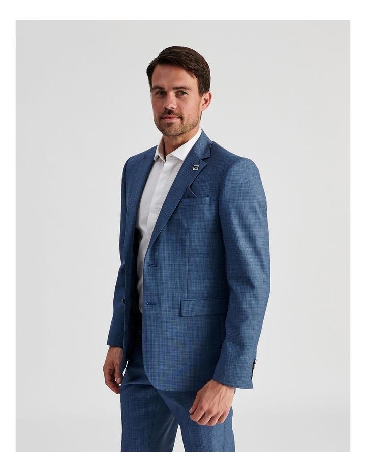 Blue Micro-Check Suit Jacket image 4