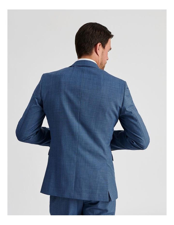 Blue Micro-Check Suit Jacket image 5