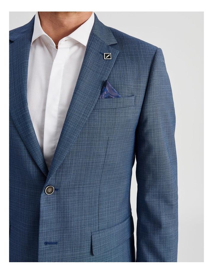 Blue Micro-Check Suit Jacket image 6