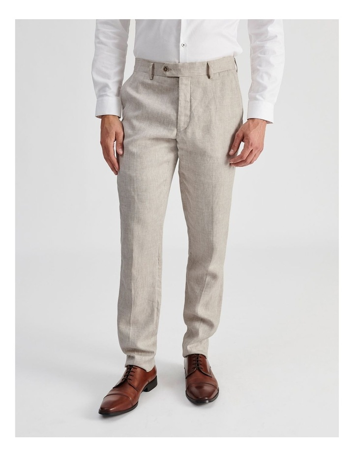 Natural Linen Suit Trouser image 1