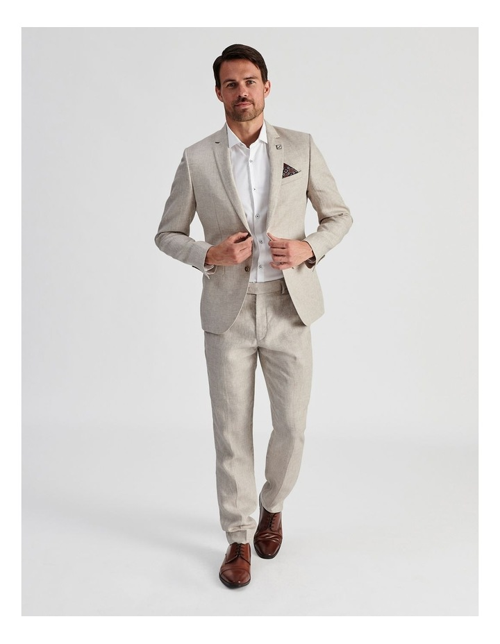 Natural Linen Suit Trouser image 2