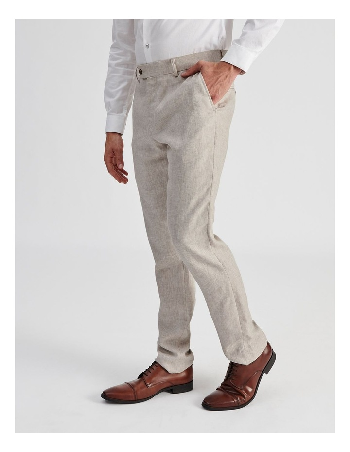 Natural Linen Suit Trouser image 3