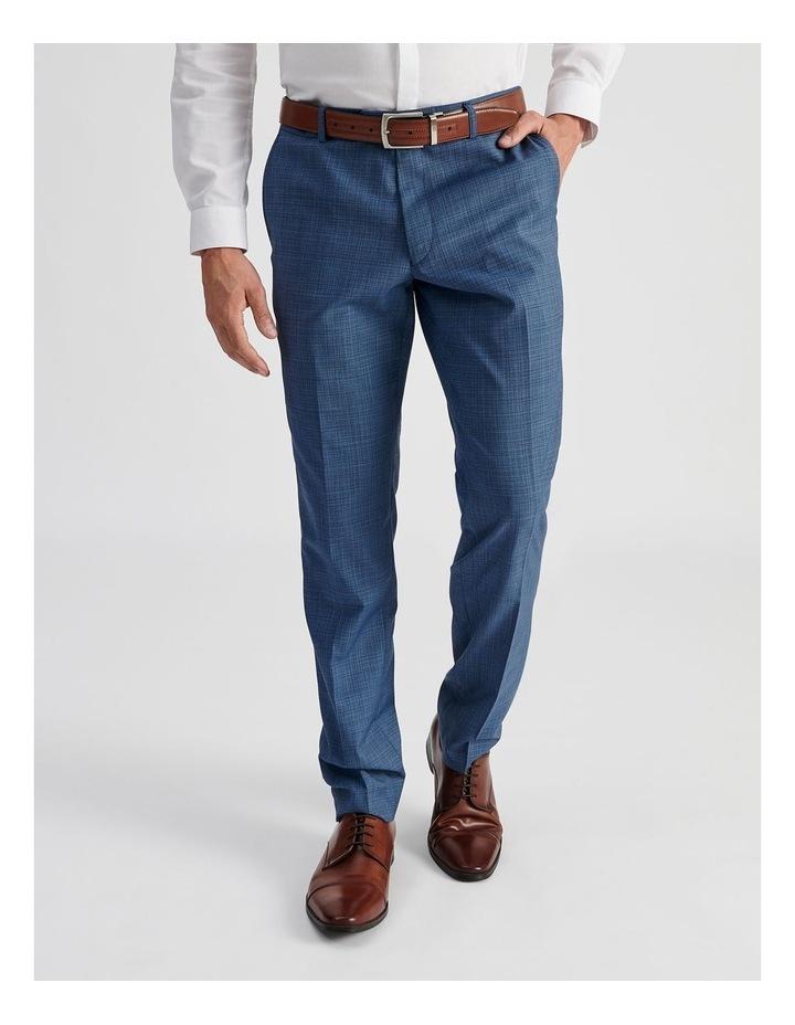 Blue Micro-check Suit Trouser image 1