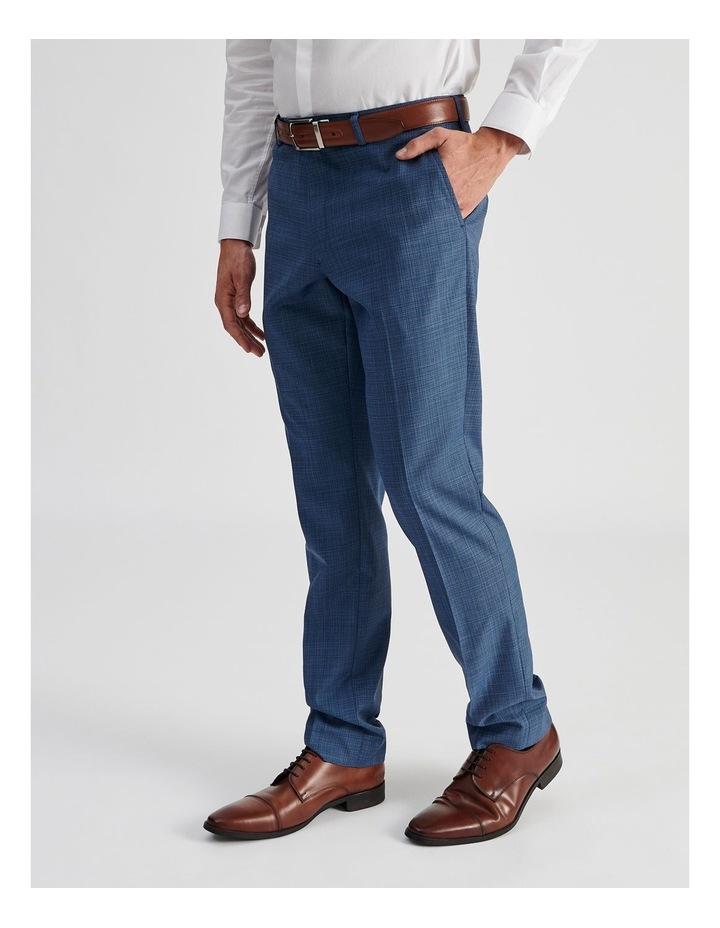 Blue Micro-check Suit Trouser image 3