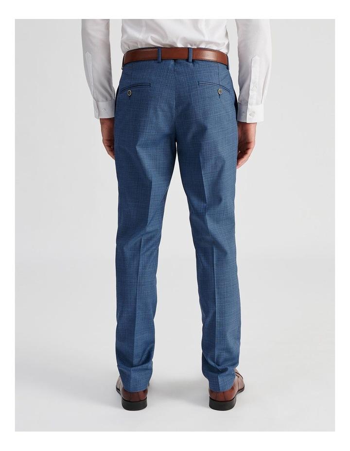 Blue Micro-check Suit Trouser image 4