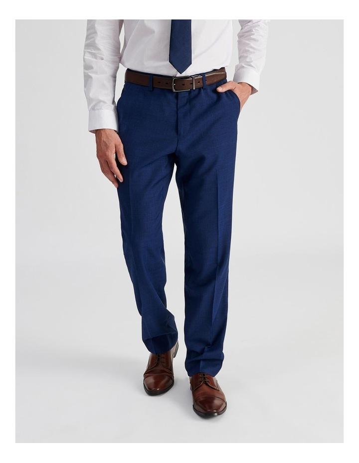 Bright Blue Check Suit Trouser image 1