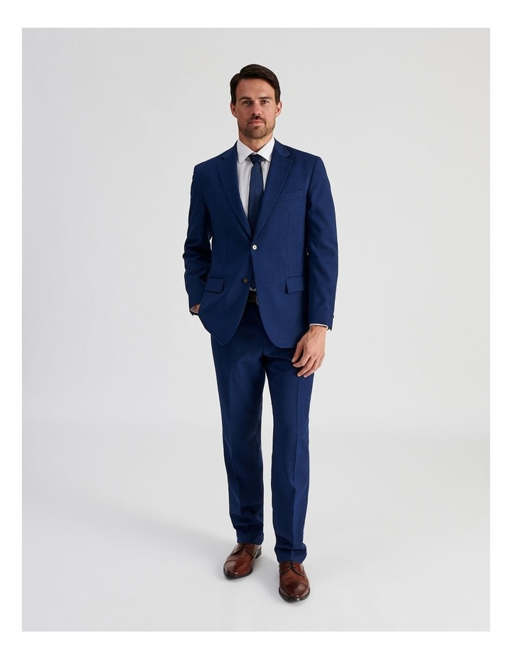 Bright Blue Check Suit Trouser image 2