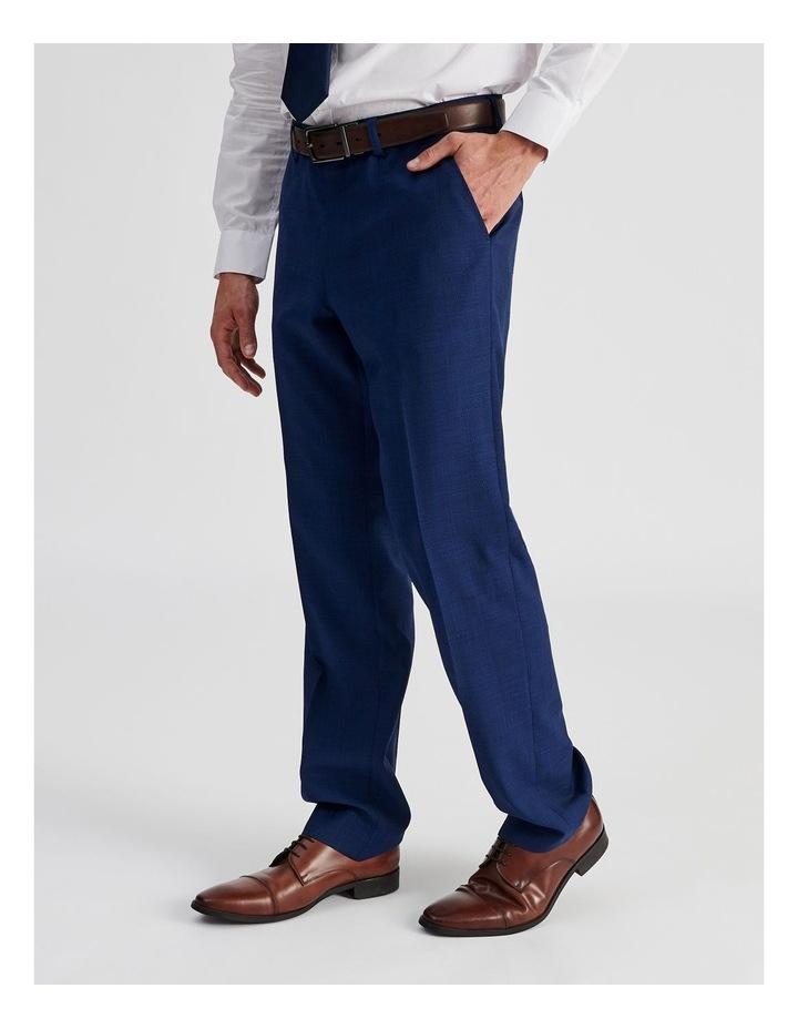 Bright Blue Check Suit Trouser image 3