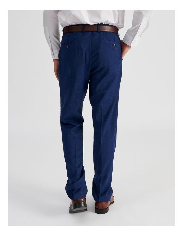 Bright Blue Check Suit Trouser image 4