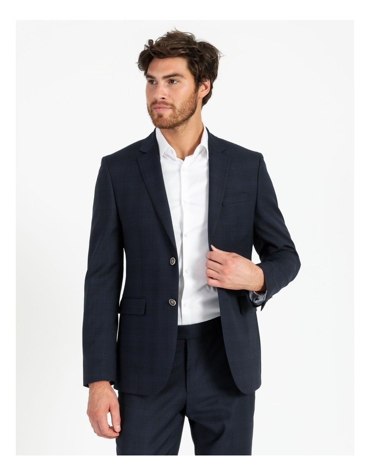 Tailored Navy Check Suit Jacket image 1