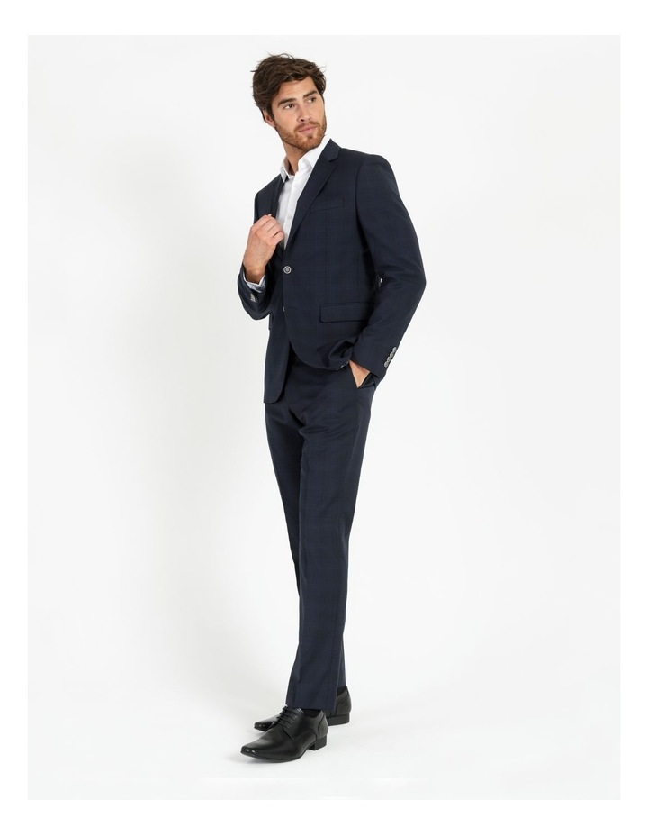 Tailored Navy Check Suit Jacket image 2
