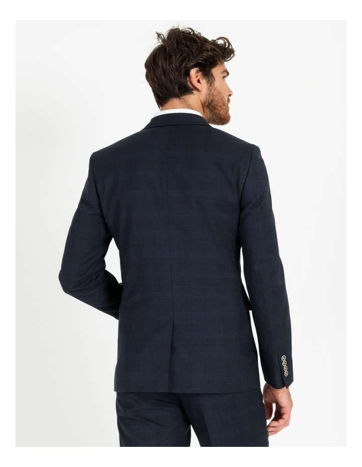 Tailored Navy Check Suit Jacket image 3