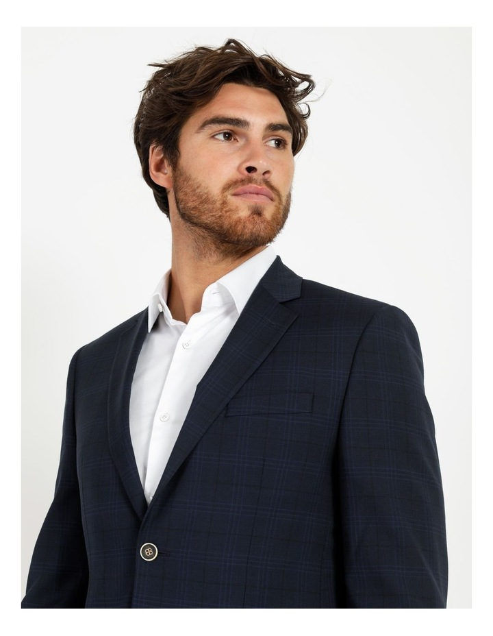 Tailored Navy Check Suit Jacket image 5