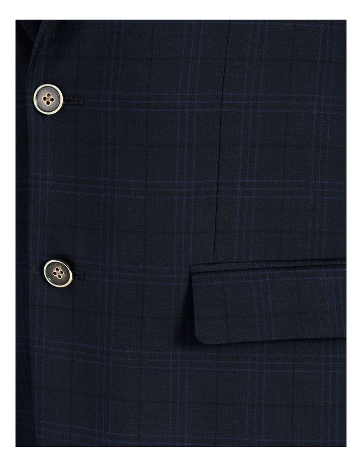 Tailored Navy Check Suit Jacket image 6
