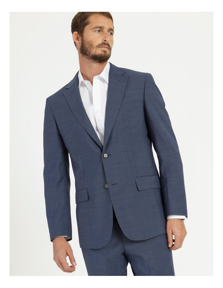 Classic Blue Textured Suit Jacket image 1