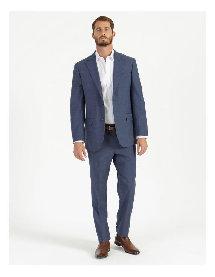 Classic Blue Textured Suit Jacket image 3