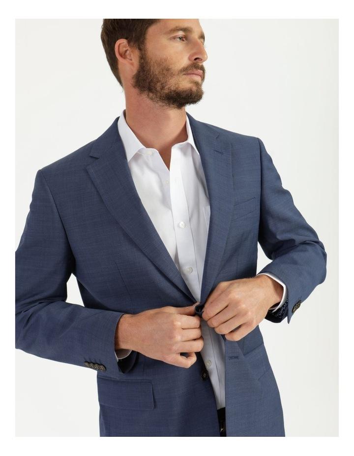 Classic Blue Textured Suit Jacket image 6