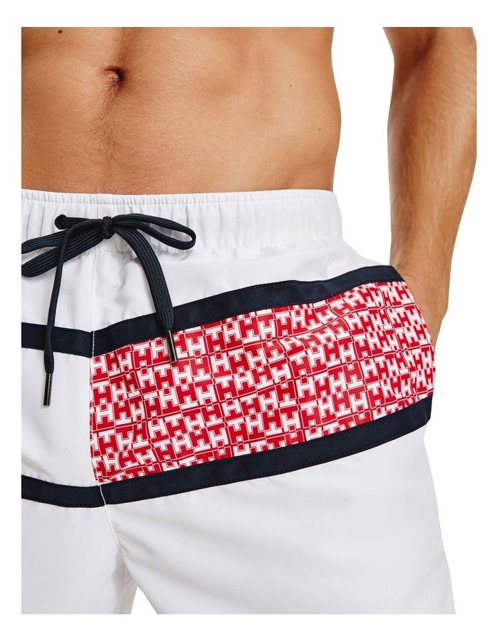 Core Flag Print Swimshort White image 4