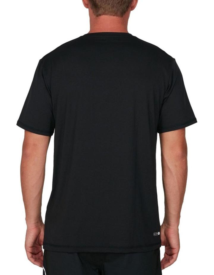 Solid Streak Loose Fit Short Sleeve Rash Top image 3