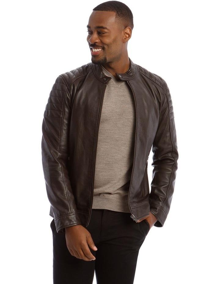 Lucaston Biker Leather Jacket image 1
