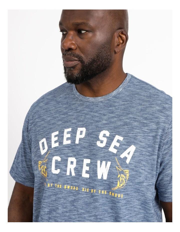 Reserve Big & Tall Mrw2148620Bt Deep Sea Crew Graphic Tee Steel image 4
